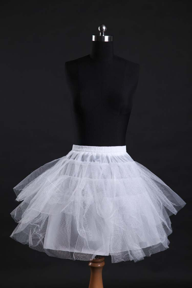 Ballet skirt dress no bone support short pannier short wedding pleated skirt.