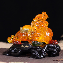 Glass ornaments brave lucky kylin desktop decoration room decoration Feng Shui business Home Furnishing new creative gifts
