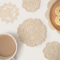 Handmade cotton States life Twine Potholder cotton crochet lace flower glass Kettle mat coasters