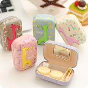 Colorful room myopia creative simple contact lens box students fresh cartoon cute double box companion box