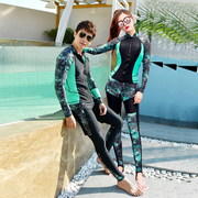 Siamese body split couple diving suits swimwear female trousers long sleeves jellyfish sunscreen surfing South Korean male snorkeling set