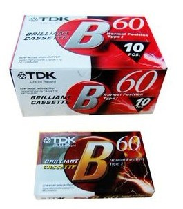 Special quality TDK blank tape, 60 minute repeater, recorder dedicated TDK-B60 minutes tape