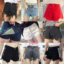 Korean version of the new womens jeans women was thin high waist casual denim shorts female summer wild hole hot pants tide