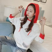 Hoodie spring tide female Korean students BF loose 2017 new all-match thin section of bat sleeve jacket head