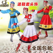 2017 new Mongolian clothing female minority performance apparel square dance clothing Mongolian performance apparel