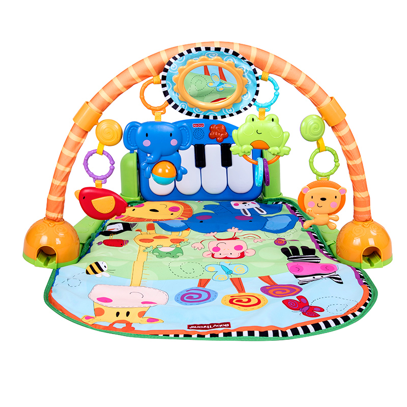 Berdenbo baby pedal piano gym, 3-48 months baby game blanket, children's music toys, 0-4 years old