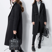 Cashmere woolen coat female winter long slim Korean knee thin wool coat thick waist Korea