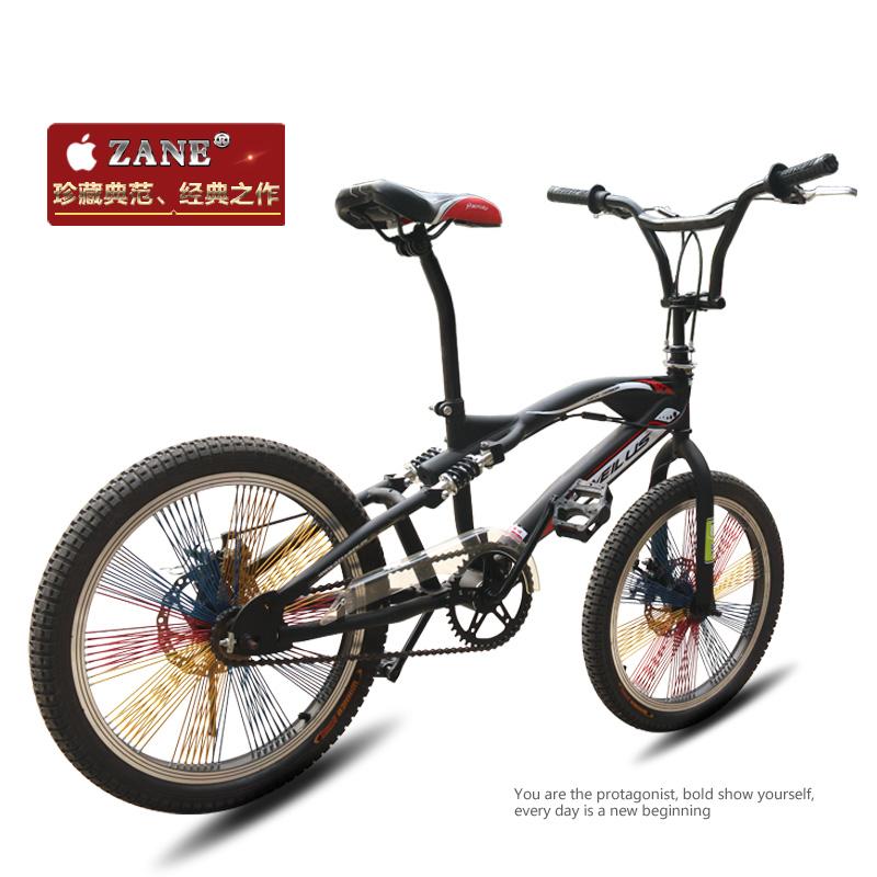 新款20寸BMX减震小轮车双碟刹表演车自行车特技车花式街车攀爬车