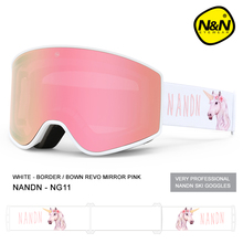 Nan'en nandn large cylindrical ski glasses double layer anti fog men's and women's single board and double board ski glasses equipped with goggles