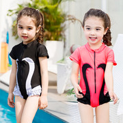 The girl child female baby girl cute princess Swimsuit Swimwear Korea Swan children swimsuit for children