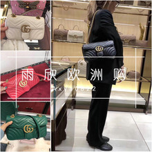 Purchasing GUCCI/Gucci Double GG Marmont mini shoulder bag Chain bag Medium/Small Female bag