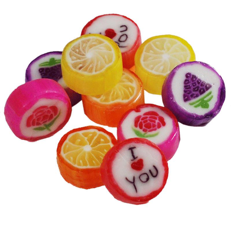 果冰晶花式手工水果硬糖混合口味 生日婚庆喜糖 节日零食糖果
