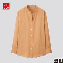 Designer collaboration women's light standing collar shirt (long sleeve) 433712 UNIQLO