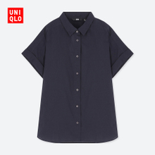 Womens all cotton shirts (short sleeves) 404553 uniqo UNIQLO