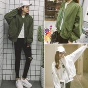 The new spring 2017 Korean women's baseball uniform color female all-match loose cardigan jacket jacket casual tide