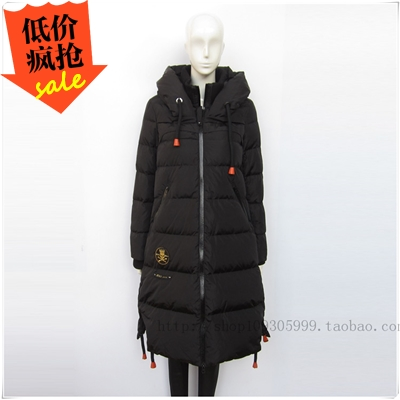 Han edition shu jie the down jacket female long counters authentic jieao fashion leisure loose A version 2016336