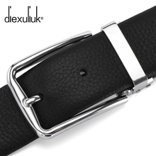 Diexuliuk leather belt buckle young male leather belt belt men's business casual.