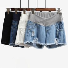 Pregnant women denim shorts women loose bottom pregnant women pants summer thin section wear summer shorts 2018 new fashion