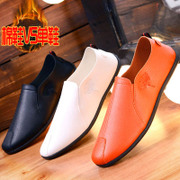Autumn and winter Peas shoes men's casual plus velvet warm cotton shoes Korean version of lazy shoes tidal shoes a pedal men's shoes