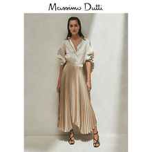 Limited edition Massimo dutti women's wear department store same spring and summer new corset pleated skirt cold air skirt 05242586303