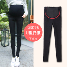 2018 new maternity clothes feet pants leggings plus cashmere spring and autumn thin section tide mother wear large yards autumn and winter pants