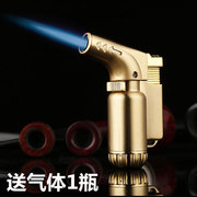 Lighter shipping creative inflatable high temperature wind gun male cigar cigarette lighter into the gas metal spray gun