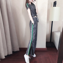 Sports suit female summer 2018 new fashion loose Korean casual wear spring and autumn hip hop Harajuku wind two-piece