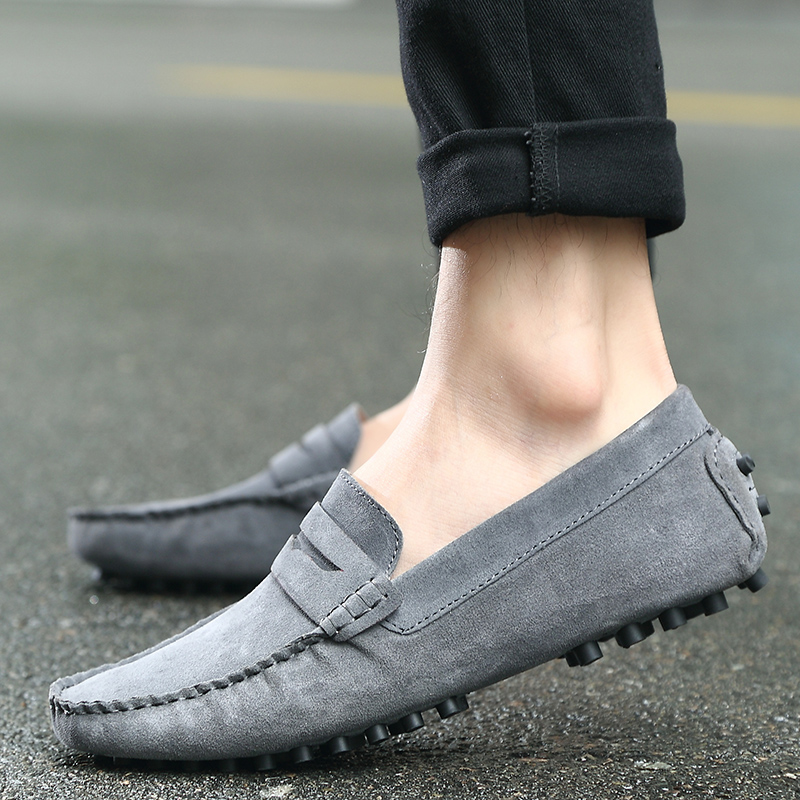 The explosion in the autumn of 2016 new Korean men's cool men's casual leather shoes slip-on Doug driving shoes