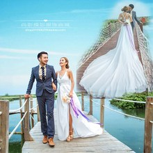The 2017 theme of fashion photography photo studio photo couples dress wedding dress photo lovers exteriors