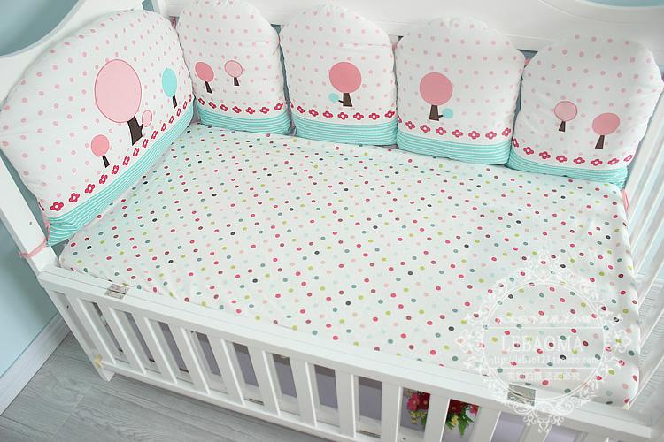 Nordic ins baby baby cotton fitted fitted non fluorescent cotton sheets baby fitted cover can be customized