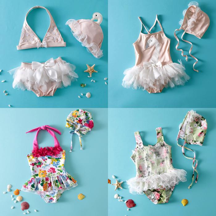 儿童连体泳衣女童泳衣 婴儿游泳衣套装宝宝泳衣儿童花式泳衣女