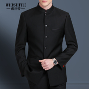 Young men fall ZhongShanZhuang suit Chinese collar suit Chinese slim bride's gown China costume wind