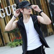 Spring and summer leisure vest male slim sleeveless vest Korean youth fashion vest thin