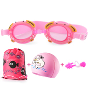 Waterproof swimming goggles HD children swimming goggles adult male girl equipment three sets of earplugs