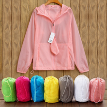 Sun protection clothing female 2018 summer new ultra-thin breathable couple shirt short paragraph long-sleeved clothes beach wild parent-child coat