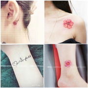 50 South Korean small fresh clavicle tattoo waterproof female persistent leg and arm English male couple simulation letters