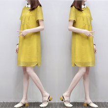 European goods 2018 summer new women's loose a word skirt doll collar large size thin chiffon dress female summer