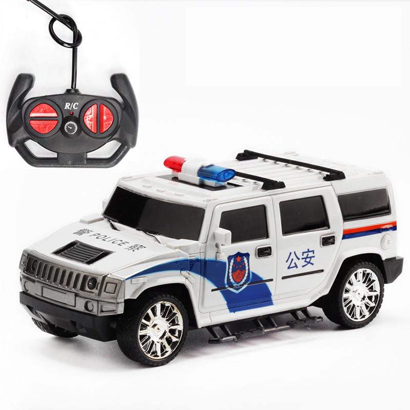 悍马警车遥控车玩具 男孩漂移越野赛车模型可充电 儿童摇控玩具车