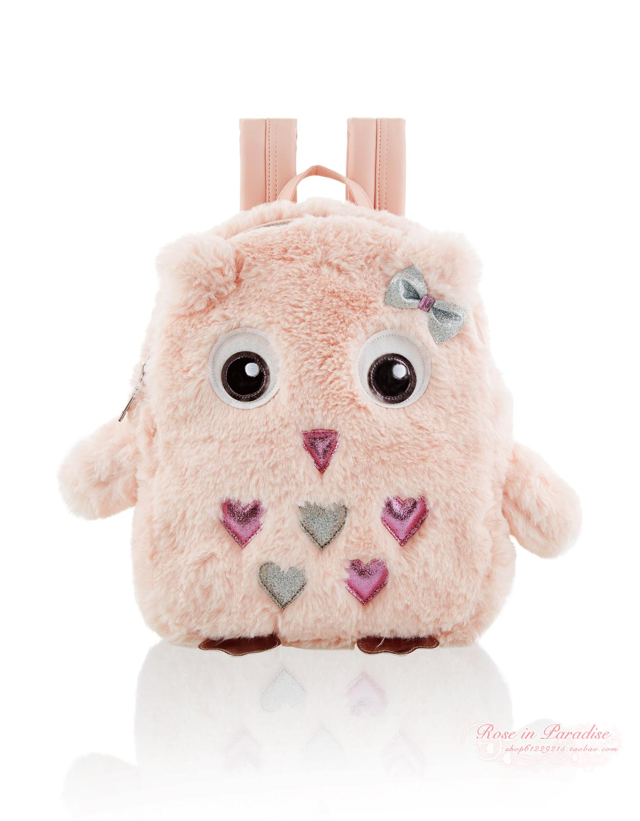 Domestic Monsoon purchasing girl, girl cute, owl Plush Backpack