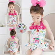 Kids children swimsuit swimsuit GIRLS INFANT BABY Siamese skirt bubble hot spring children's swimwear fast dry