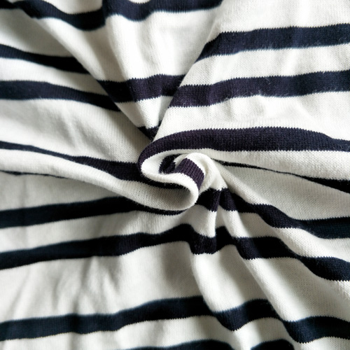 Di * * * brand cotton combed cotton, black and white stripe fabric, summer, men and women, children, parent-child clothing, cloth