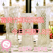 The living room decoration Fuguizhu hydroponic flower vase vase modern large transparent glass table of lily flower