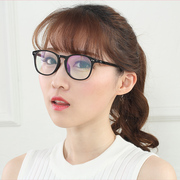With myopia glasses female ultra Light Korean version retro round face literary myopia glasses female finished glasses frame female mirror frame male