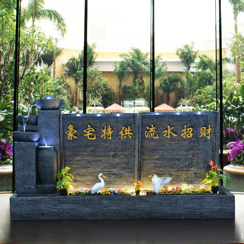 户外落地欧式大型喷泉流水摆件别墅花园水景客厅室内装饰鱼池景观