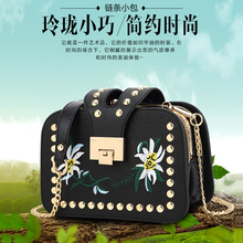 2017 new female bag folk style embroidery small package multi nip handbag chain shoulder diagonal bag