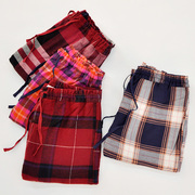 Spring and autumn LADIES COTTON loose pajama pants size Home Furnishing Plaid elastic waist cotton flannel trousers