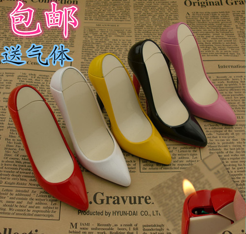 Creative new high heels Open flame lighters consigned personality strange new toy gifts cigarette lighter