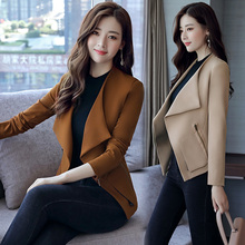 Fashion button suit female 2017 new autumn decoration body thin suit jacket coat Korean fan trend
