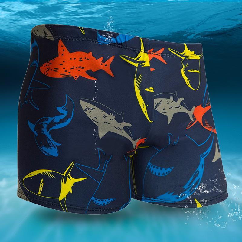 【游泳馆供应款】新款时尚男式泳裤花式平角沙滩休闲温泉游泳裤子