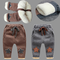 Baby thick winter trousers and Velvet 3 layer Super baby pants winter trousers for boys big PP child harem pants